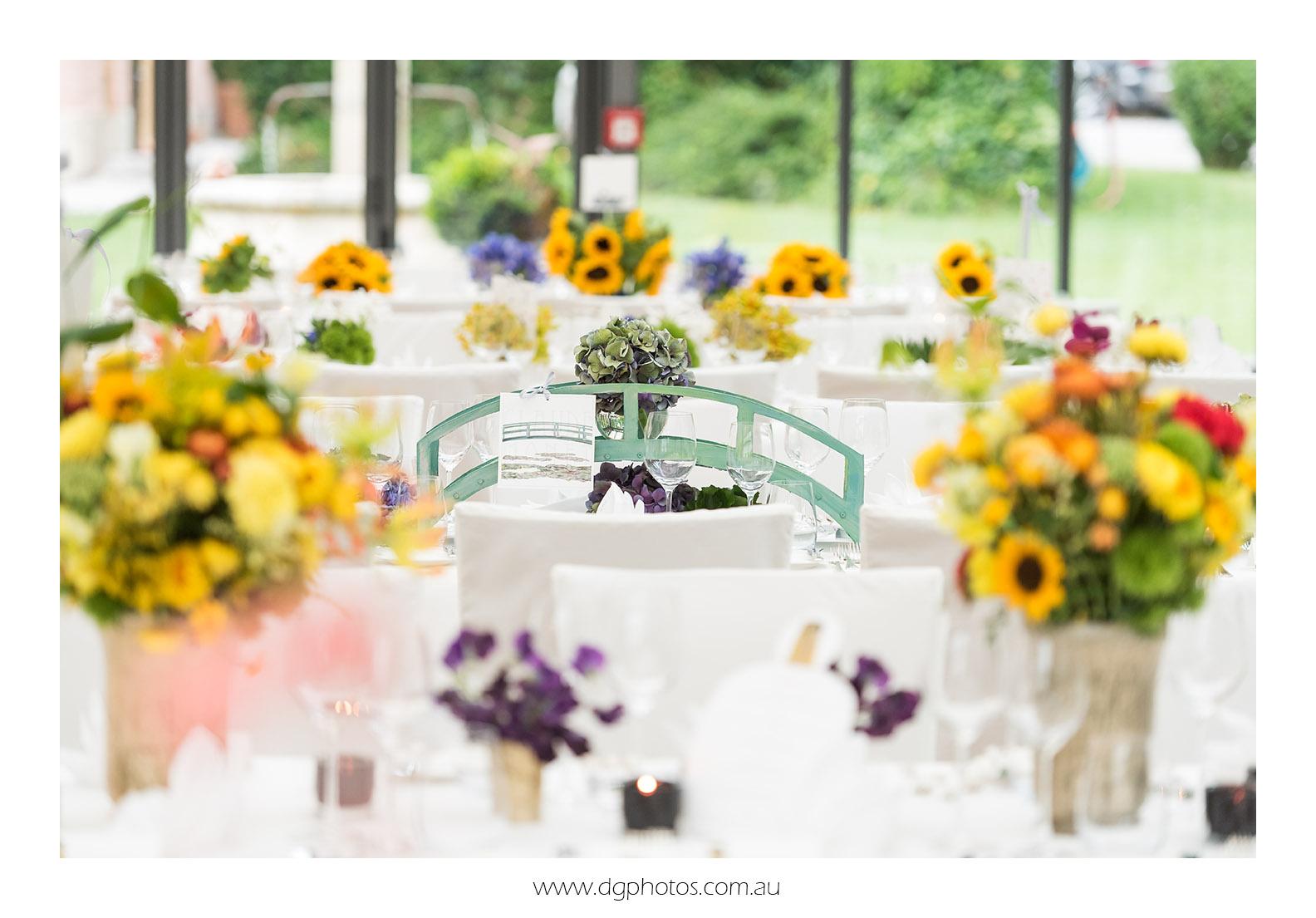 Eine von Künstlern inspirierte Hochzeitsdekoration
