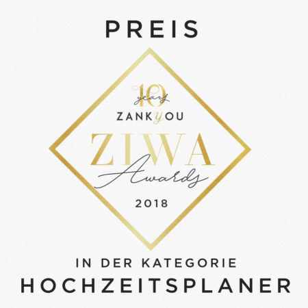 ZIWA Award – Gewinner in der Kategorie Hochzeitsplaner